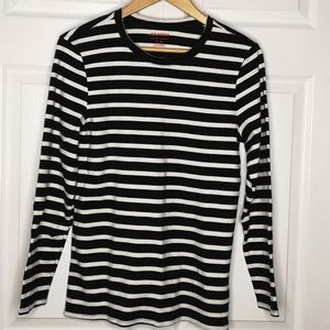 Joe Fresh Long Sleeve Striped Casual Tee XL